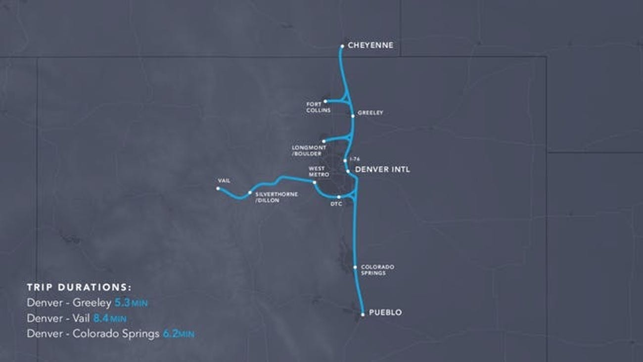 Cheyenne, Wyoming to Pueblo, Colorado.