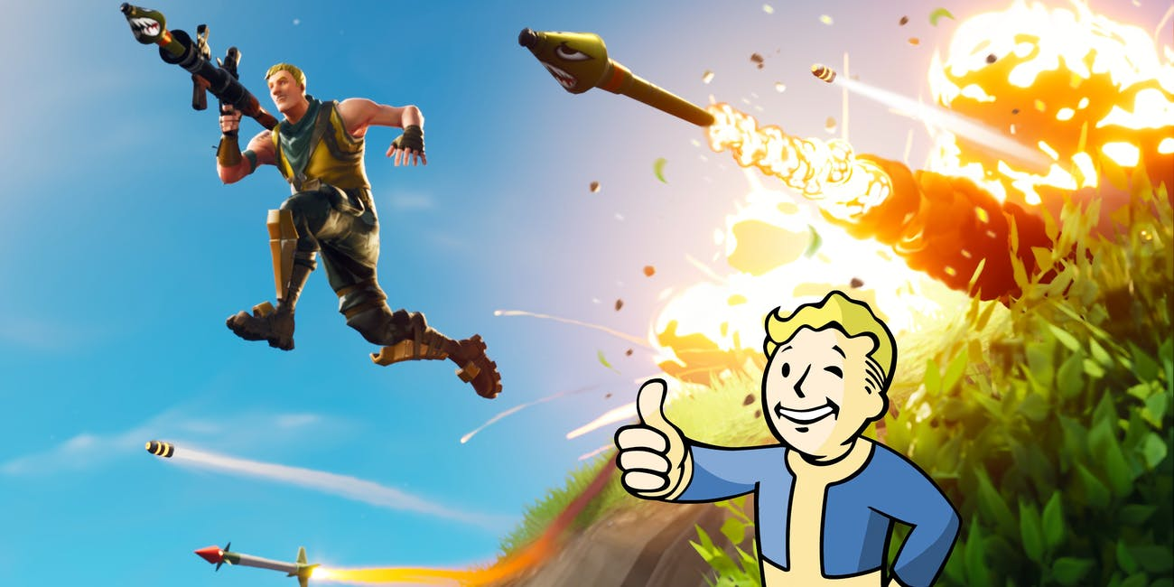 Fortnite Fallout mash-up