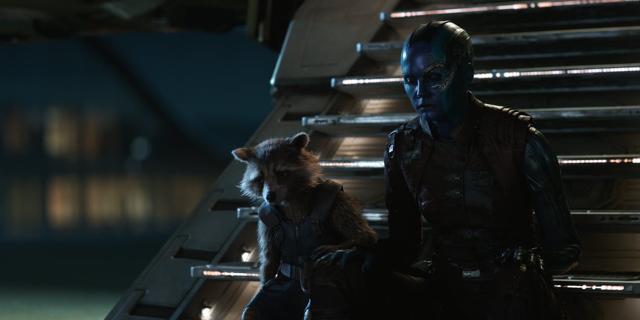 Nebula and Rocket in 'Avengers: Endgame'