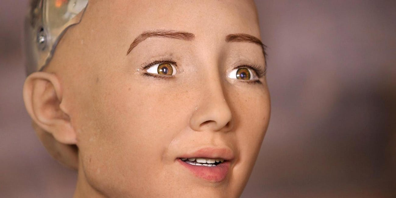 The Sophia robot by Hanson Robotics
