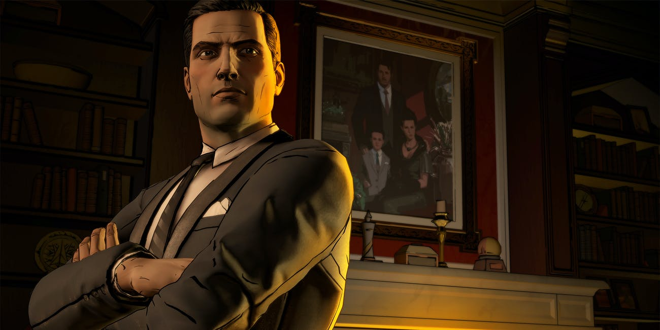 Screenshot from the Batman The Telltale Series video game.
