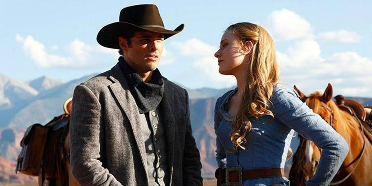 James Mardsen and Evan Rachel World in 'Westworld'