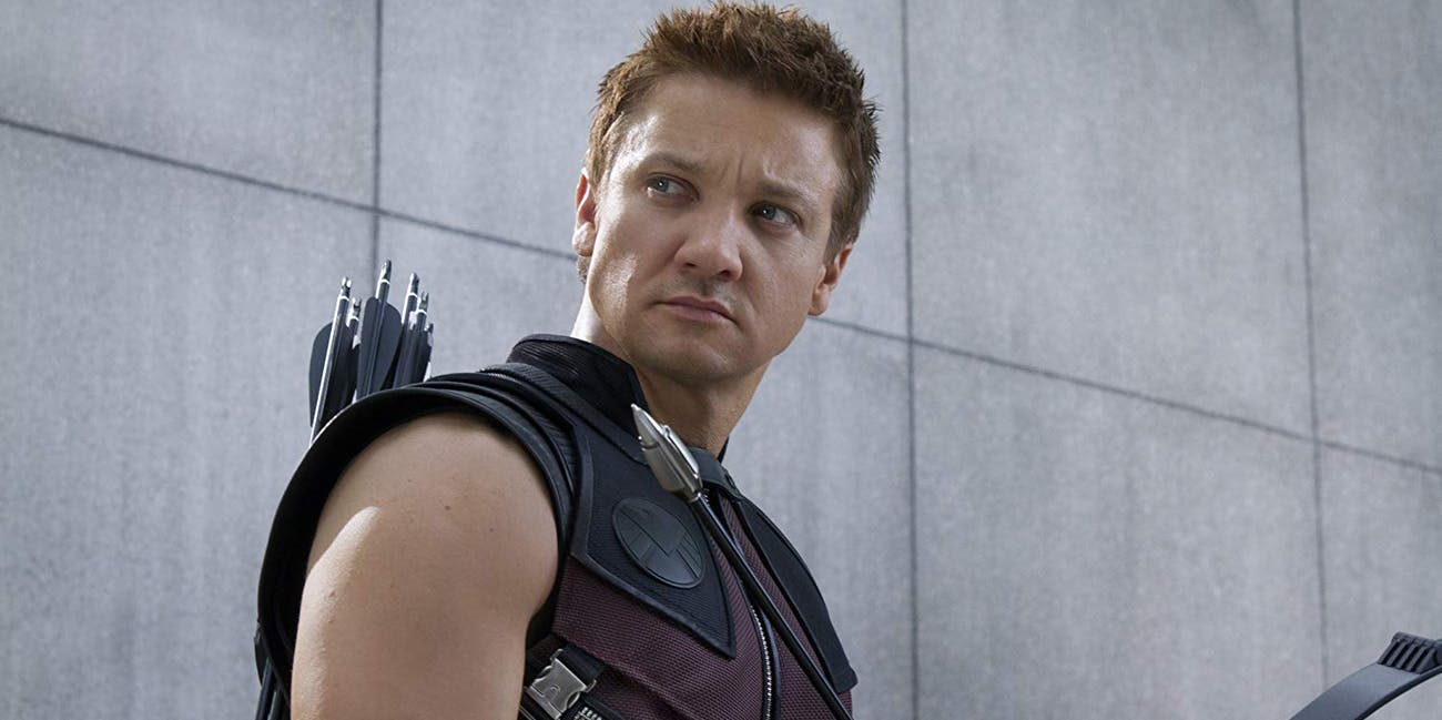 Jeremy Renner as Clint Barton, a.k.a. Hawkeye in 'The Avengers'