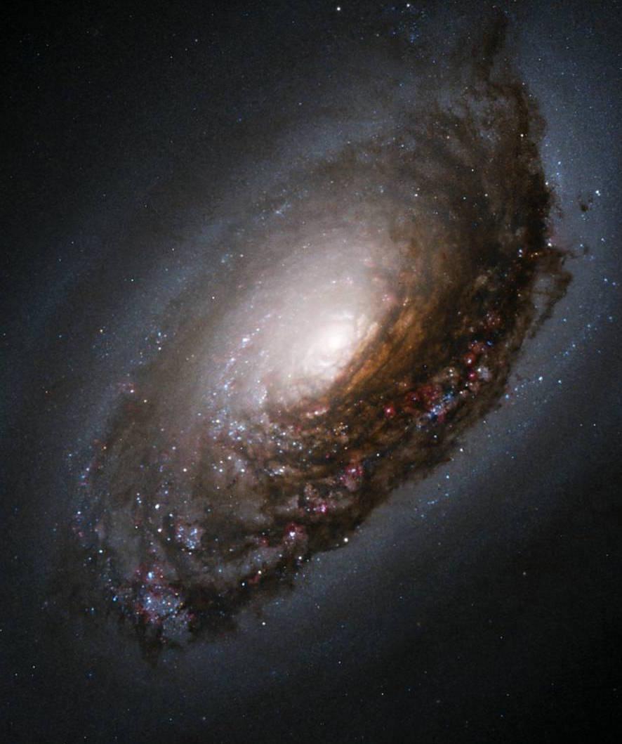 """Messier 64, or the """"black eye galaxy."""""""