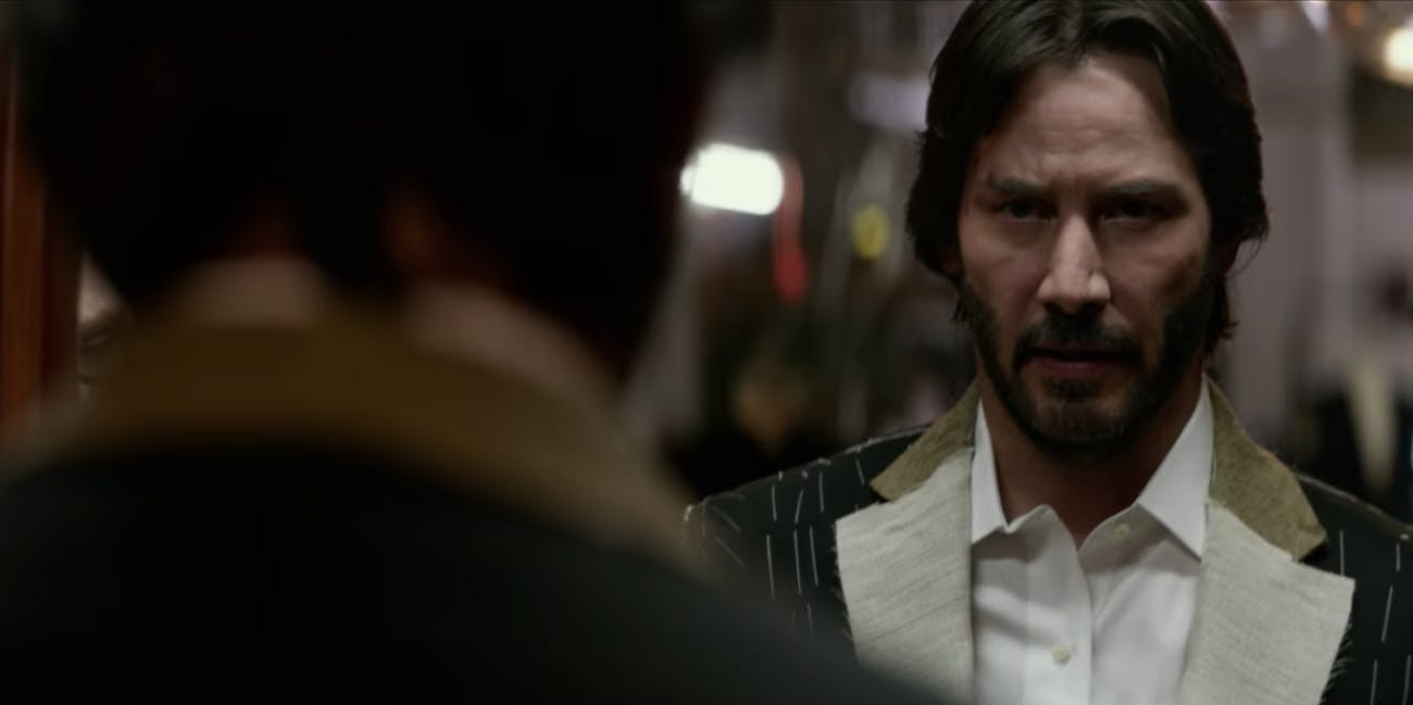 John Wick orders two suits in new John Wick clip.