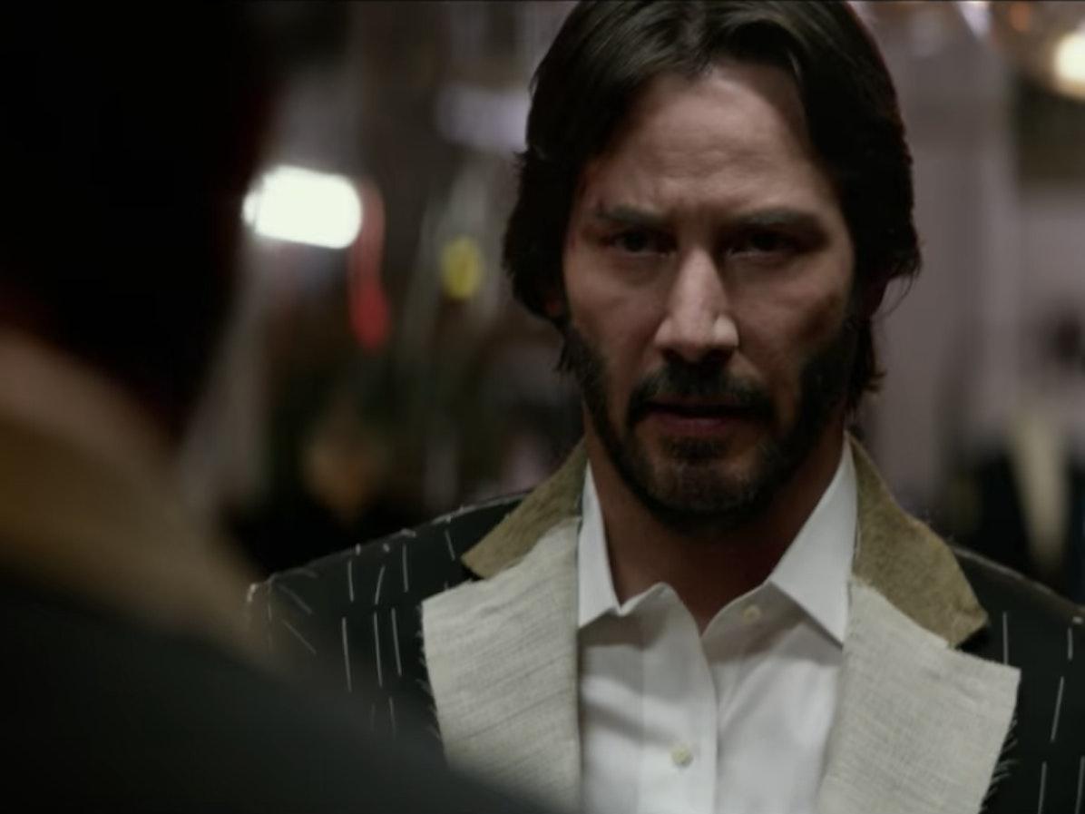 John Wick orders two suits in new John Wick clip.