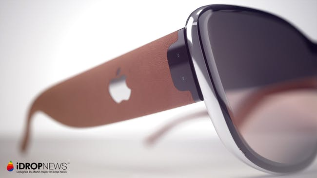 A close-up of Apple Glass.
