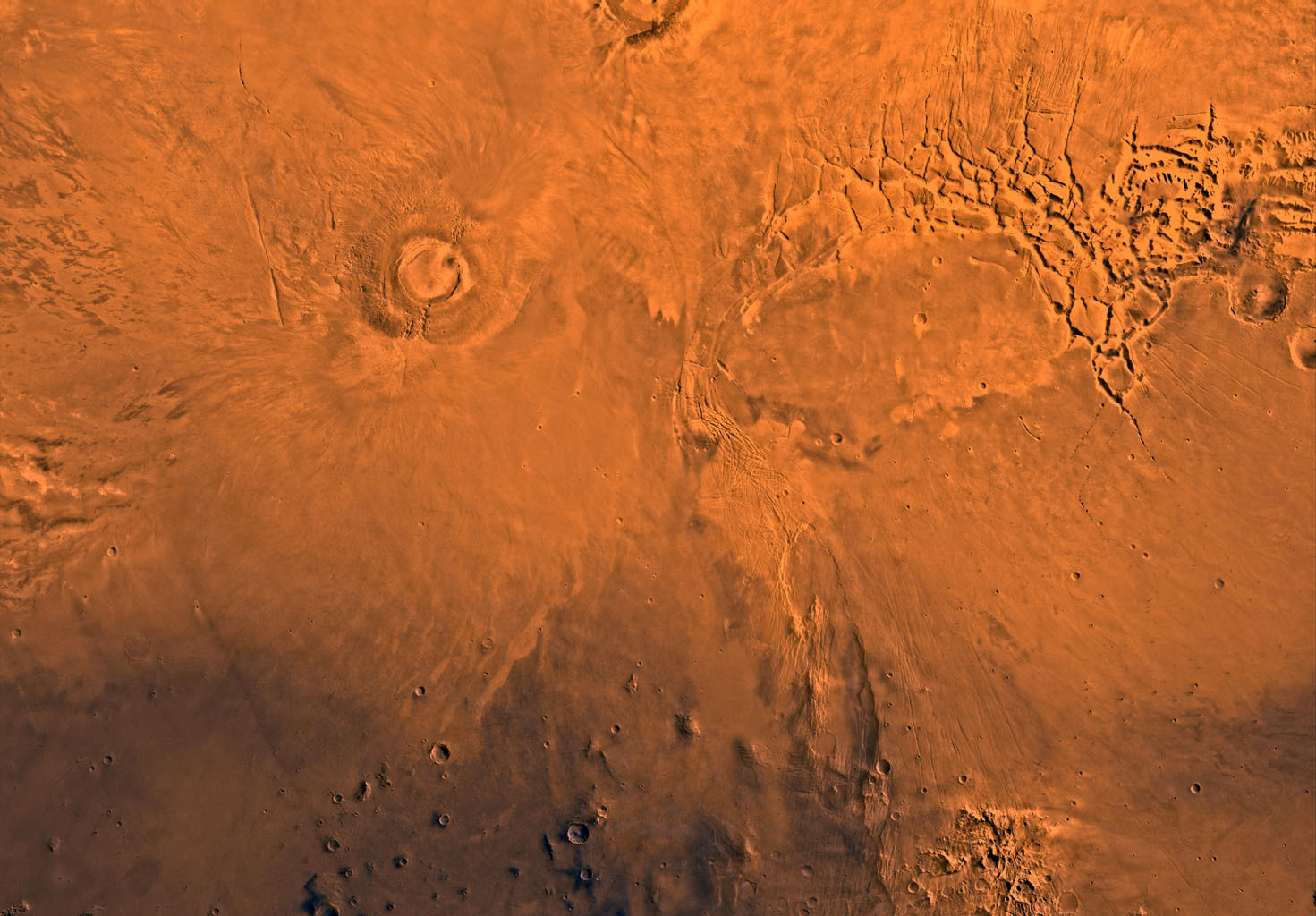 Mars volcano, dinosaurs extinct at the same time