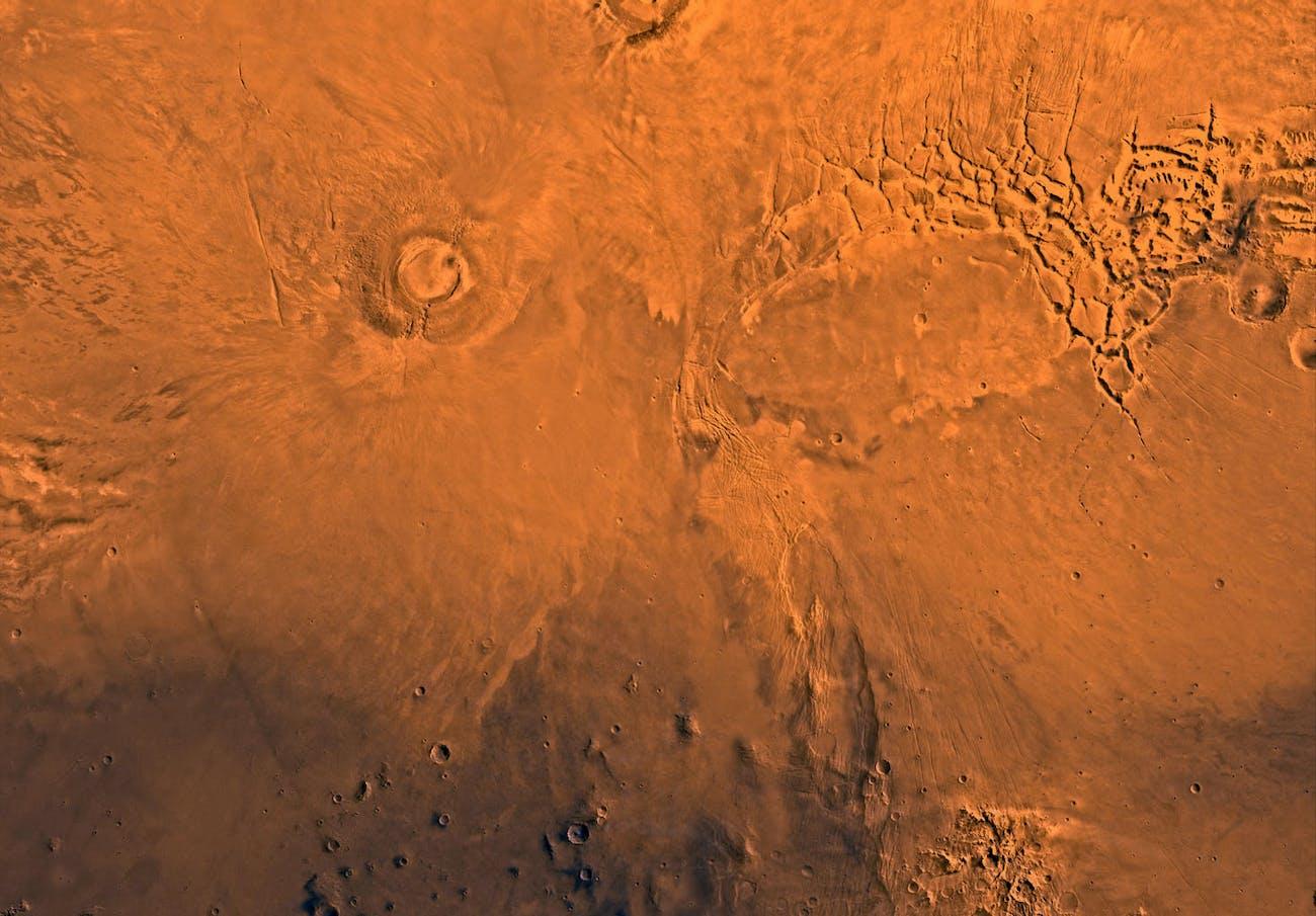Arsia Mons Mars Volcano