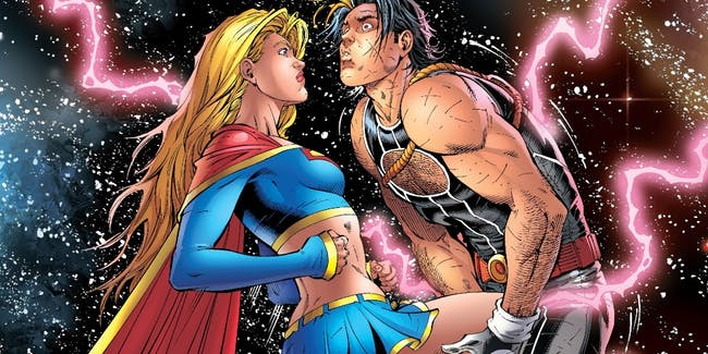 Supergirl Crotch Kick