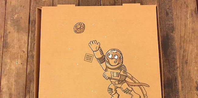 Space donuts doughnut doughnuts monkey grabbing astronaut synestia