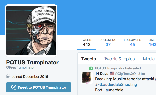 Huh, you just joined Twitter? I'm sure you're 100% a real American citizen.
