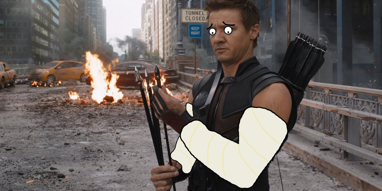 Hawkeye Broken Arms