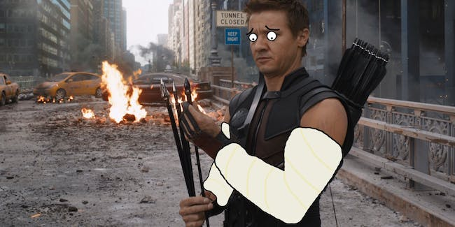 Hawkeye Broken Arms