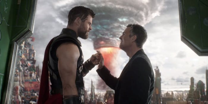 Thor and Banner are together in the end.