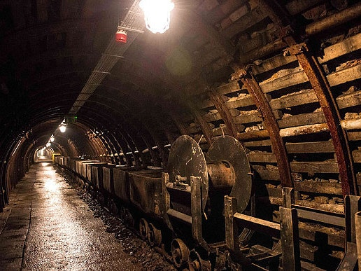 An old mine shaft in Walbrzych, Poland, at the Old Mine Science and Art Centre.