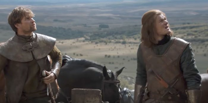 Howland Reed and young Ned Stark at the Tower of Joy in 'Game of Thrones' Season 6