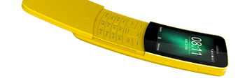 The redesigned Nokia 8110 comes out in May 2018 and sells for around $100.