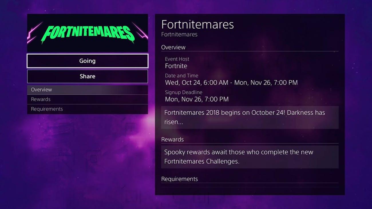 'Fortnite' Fortnitemares Events