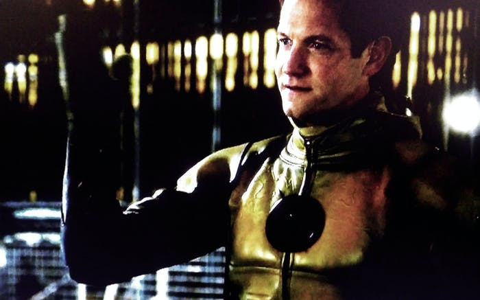 """Reverse-Flash threatens Tina McGee, on the CW show """"The Flash."""""""