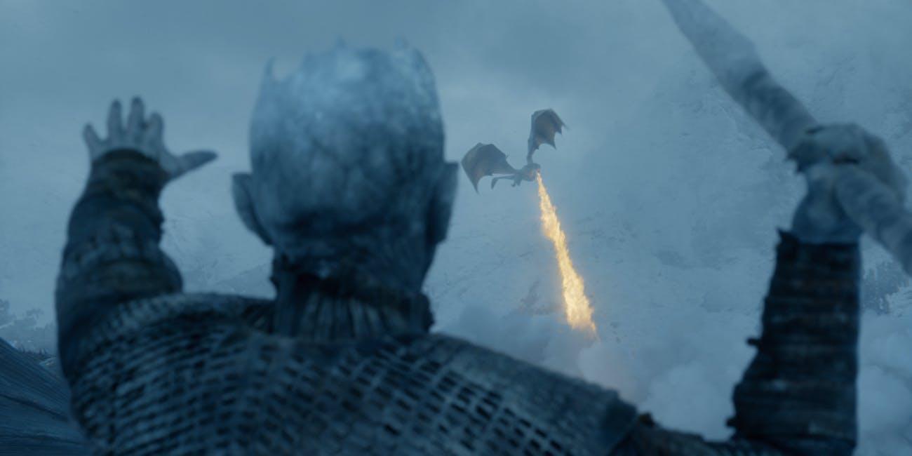 Game of Thrones Night King kills Viserion