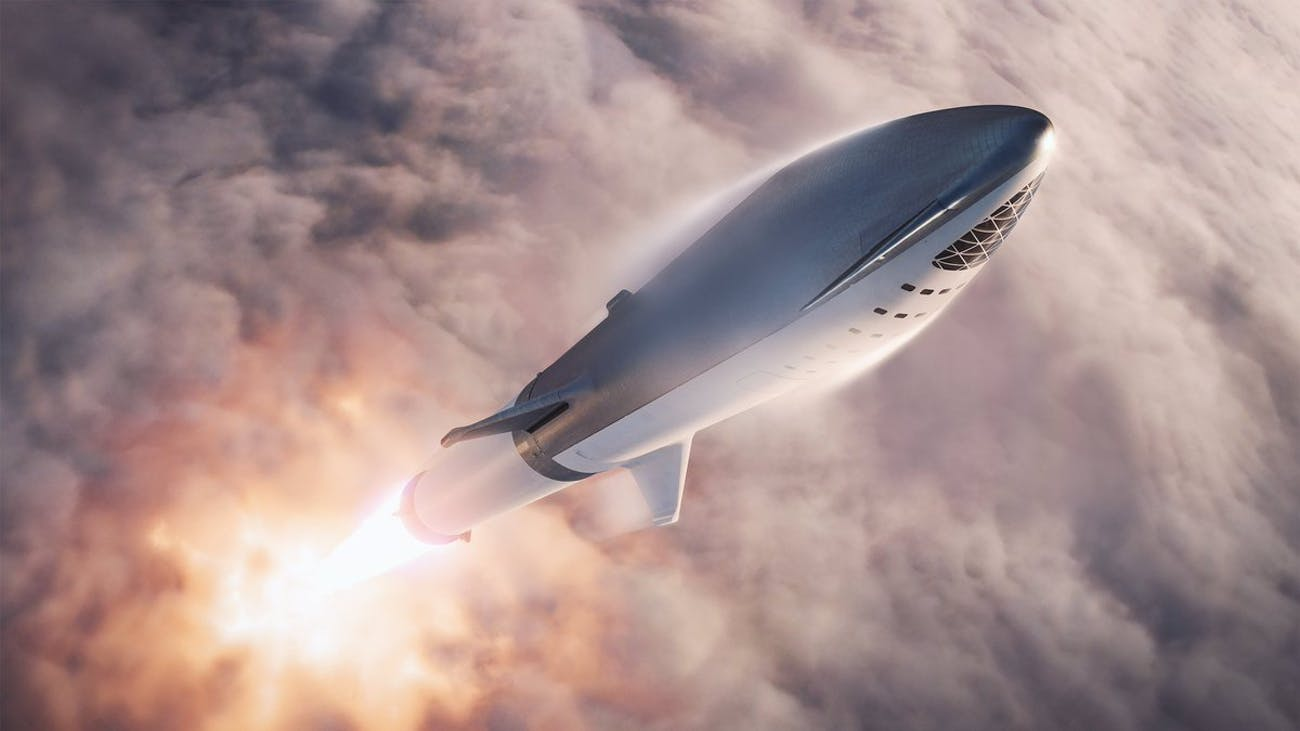 SpaceX's BFR in action.