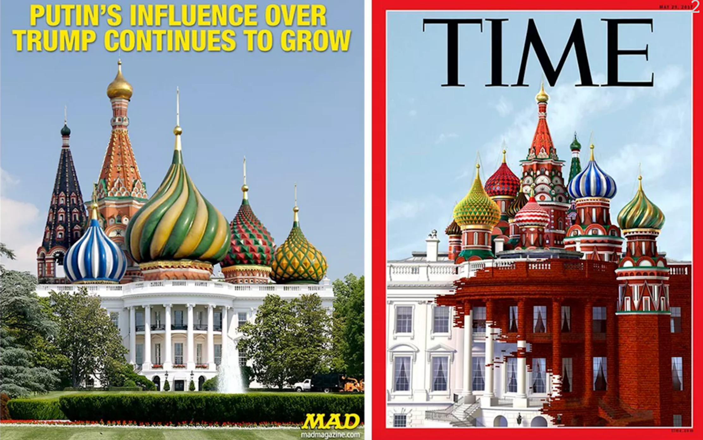 u0027Timeu0027 Magazine Cover Artist Explains His Russia White