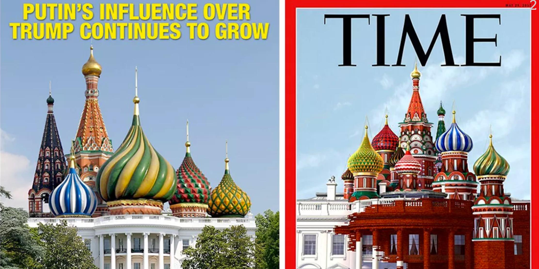 House Magazine Unique Time' Magazine Cover Artist Explains His Russiawhite House Work Design Ideas