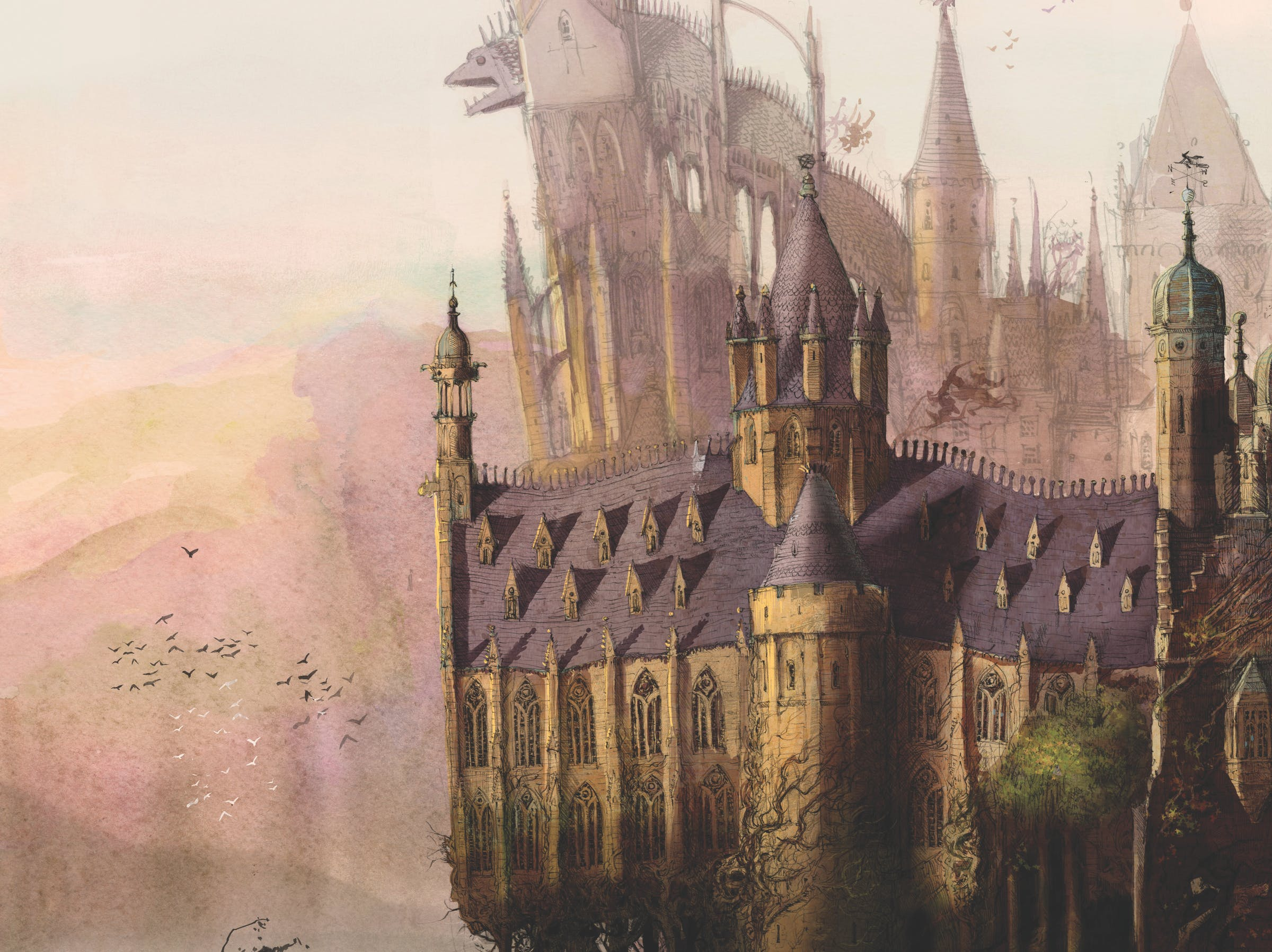 Hogwarts (Illustration by Jim Kay)