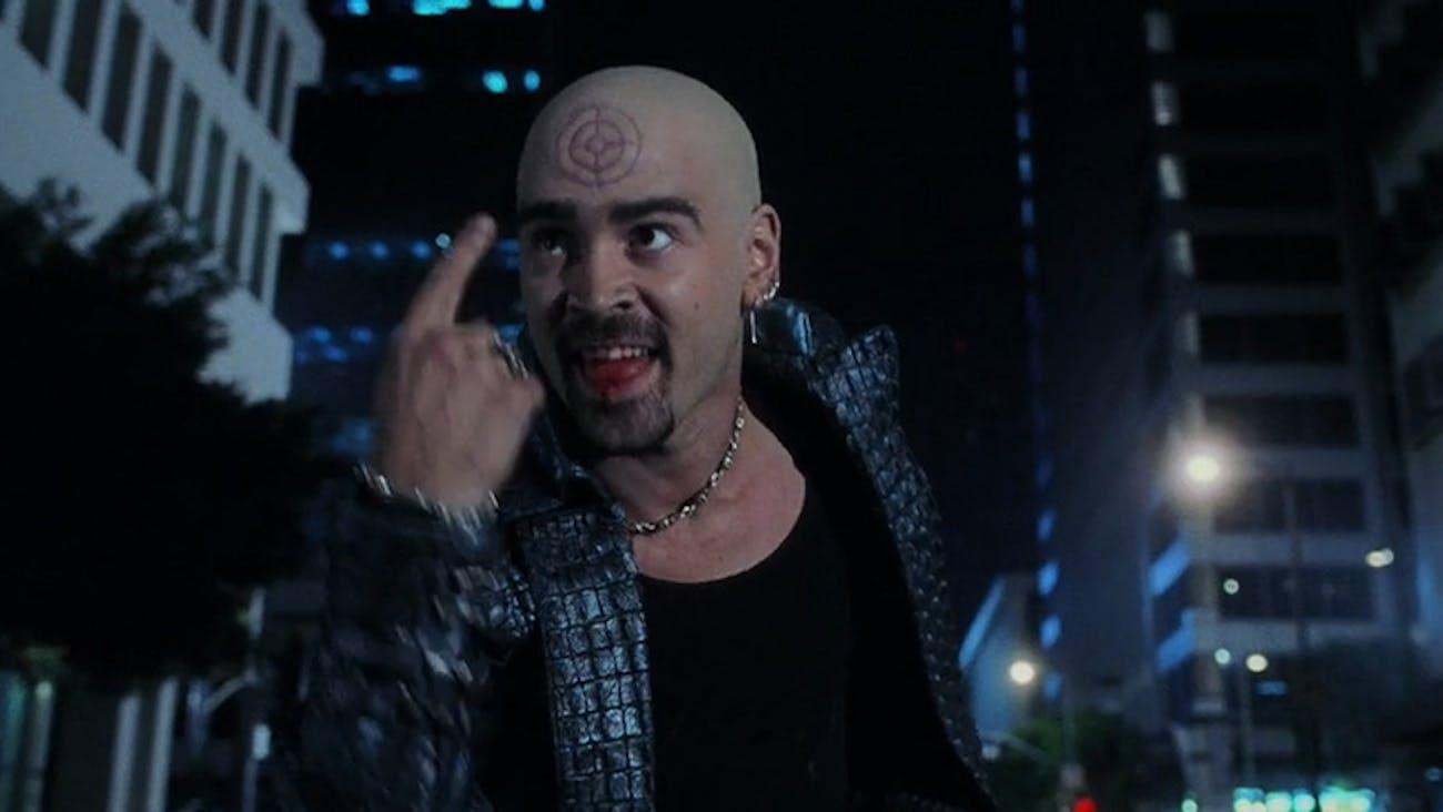 Colin Farrell as Bullseye in 'Daredevil' (2003).