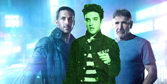 Officer K, Rick Deckard, and Elvis Presley
