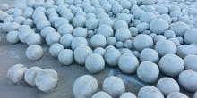 Mutant Snowballs Appear on Russian Beach