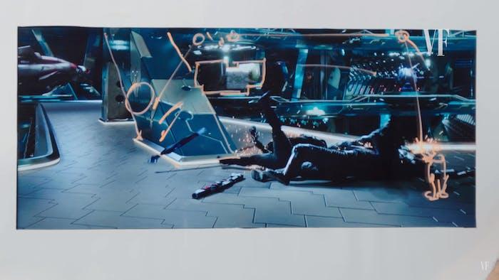 The spaceship director Taika Waititi designed for 'Thor: Ragnarok'.
