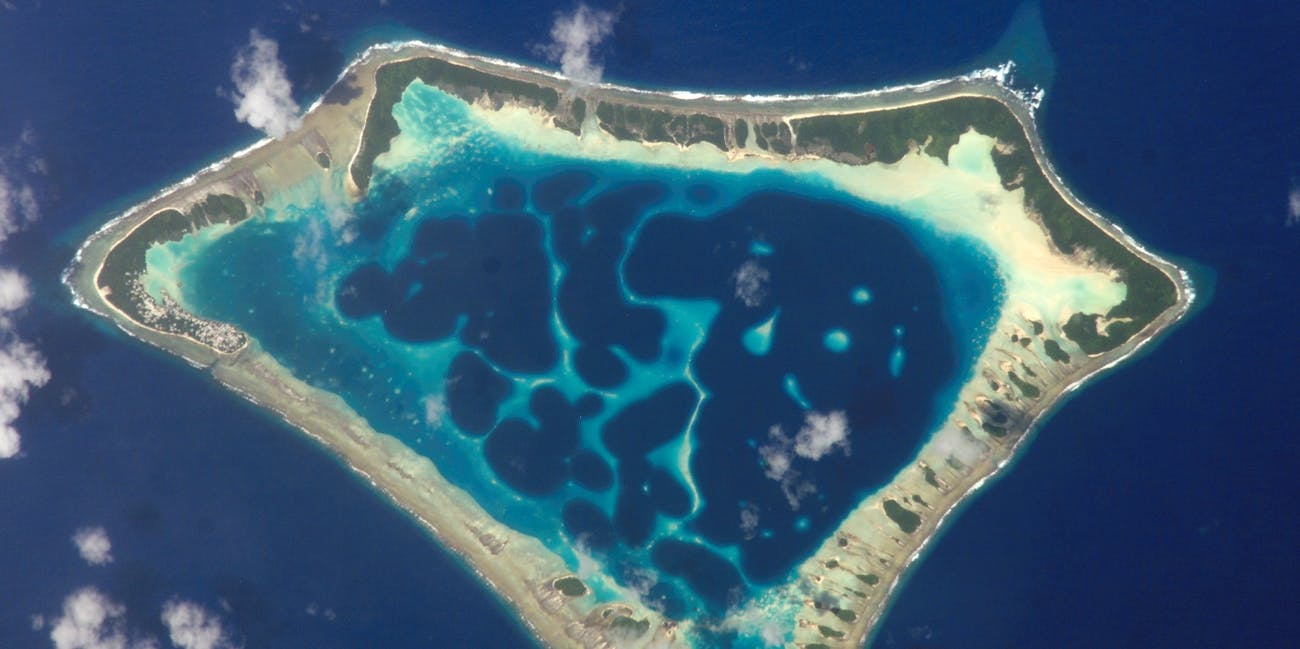 Satellite picture of the Atafu atoll in Tokelau.