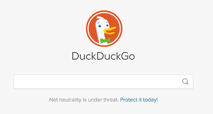 DuckDuckGo's search engine.