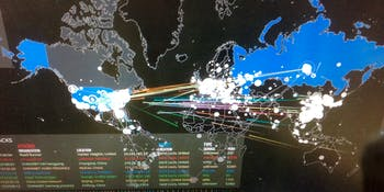 Cyber attacks in real time; or, Why Your Internet Isn't Working Today
