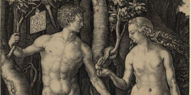 Adam and Eve, created by Albrecht Dürer, 1471-1528.