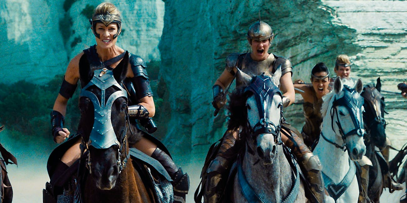 wonder woman amazons robin wright