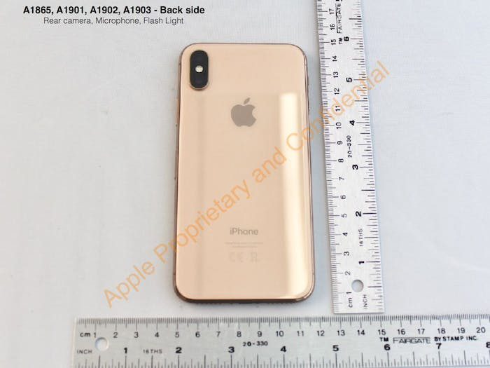 Apple's gold iPhone X.