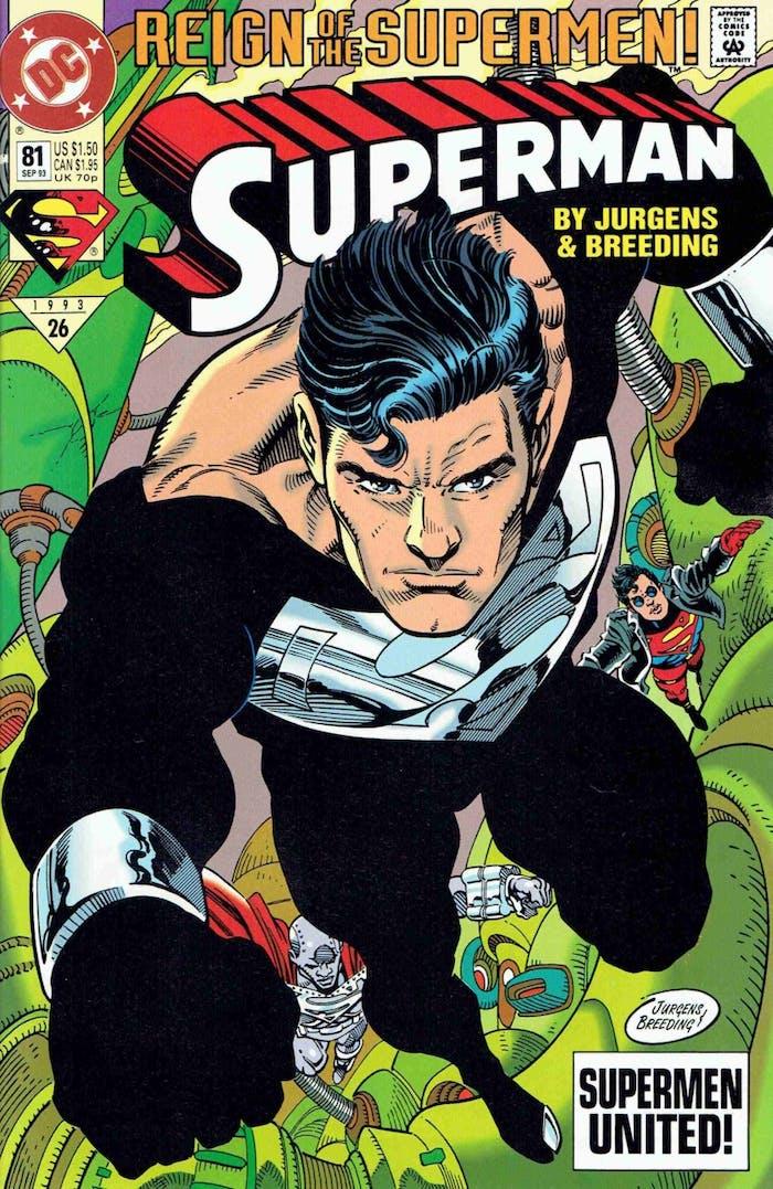 Justice League Superman Black Costume