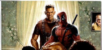 The 'Deadpool' fam unites for a turkey dinner.