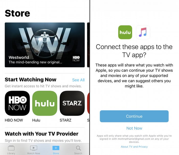 Finding and connecting new apps to TV.
