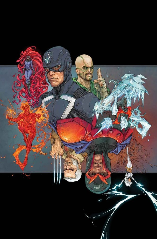 Variant cover for Marvel's Inhumans vs X-men #1