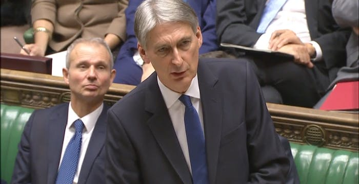 Philip Hammond speaking to the House of Commons on Wednesday.
