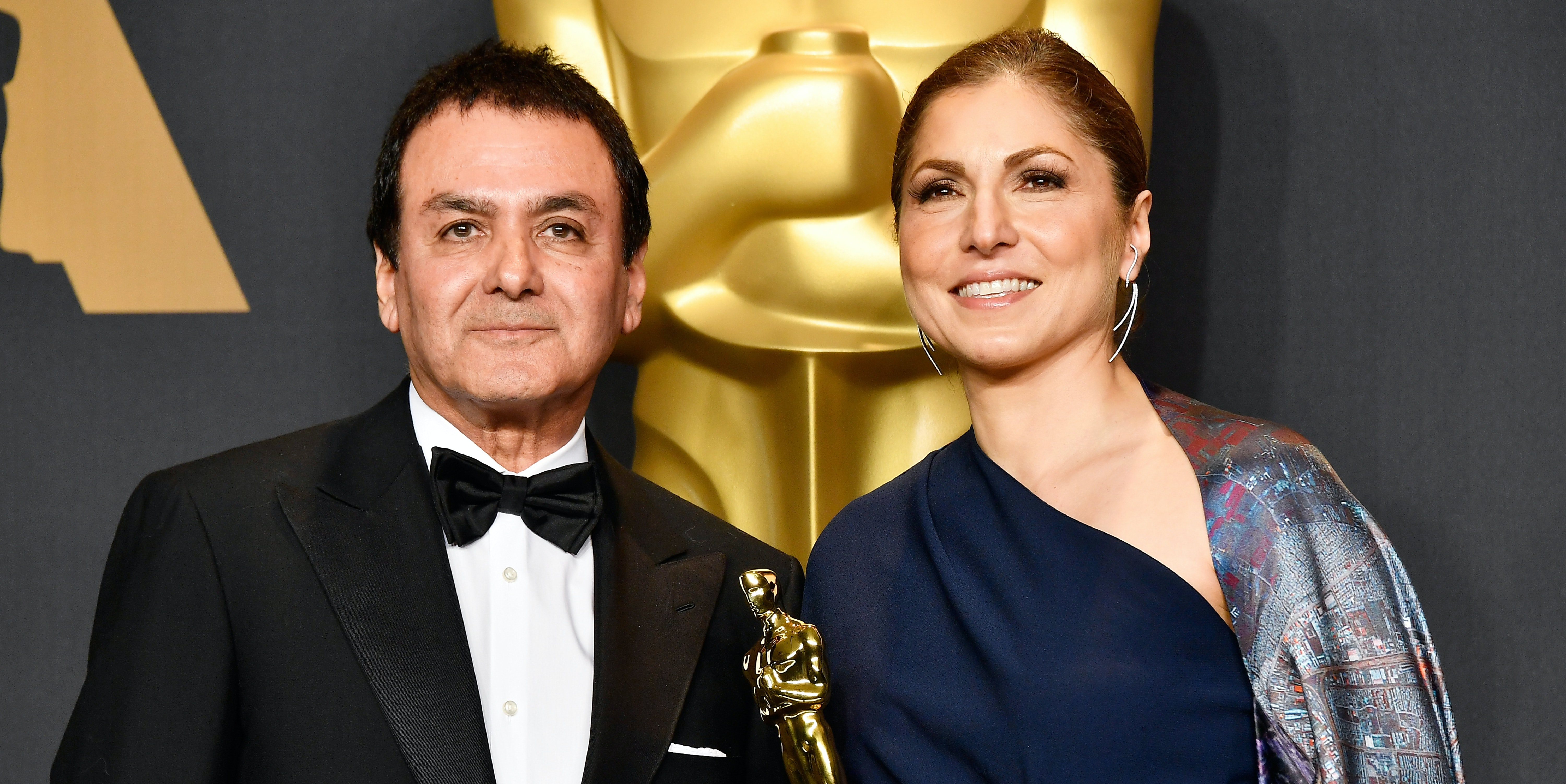 Two Iranian scientists received the Oscar on behalf of director Asghar Farhadi.