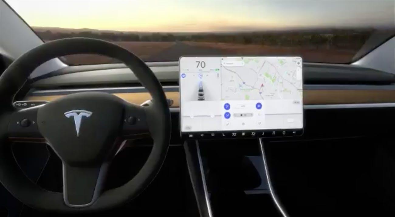 The Model 3 dashboard.