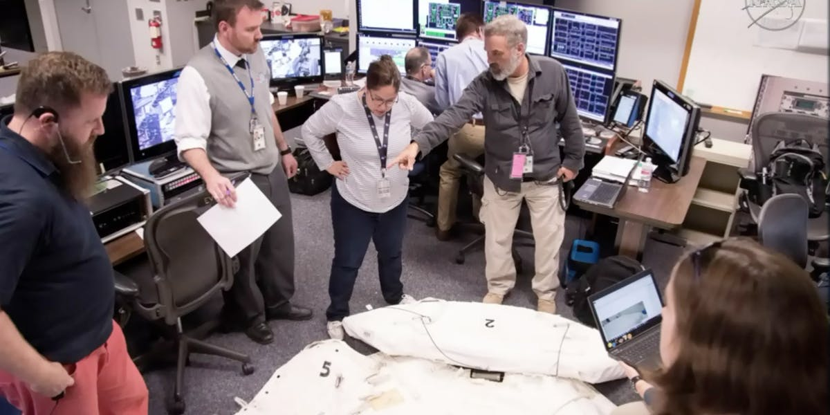 NASA staff at Johnson Space Center leapt into action to figure out how the astronauts could replace the lost shield on the ISS.