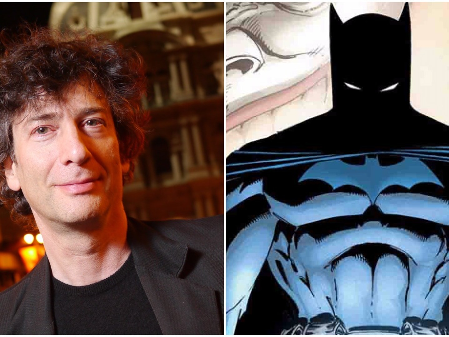 Neil Gaiman and Batman from 'Whatever Happened to the Caped Crusader'