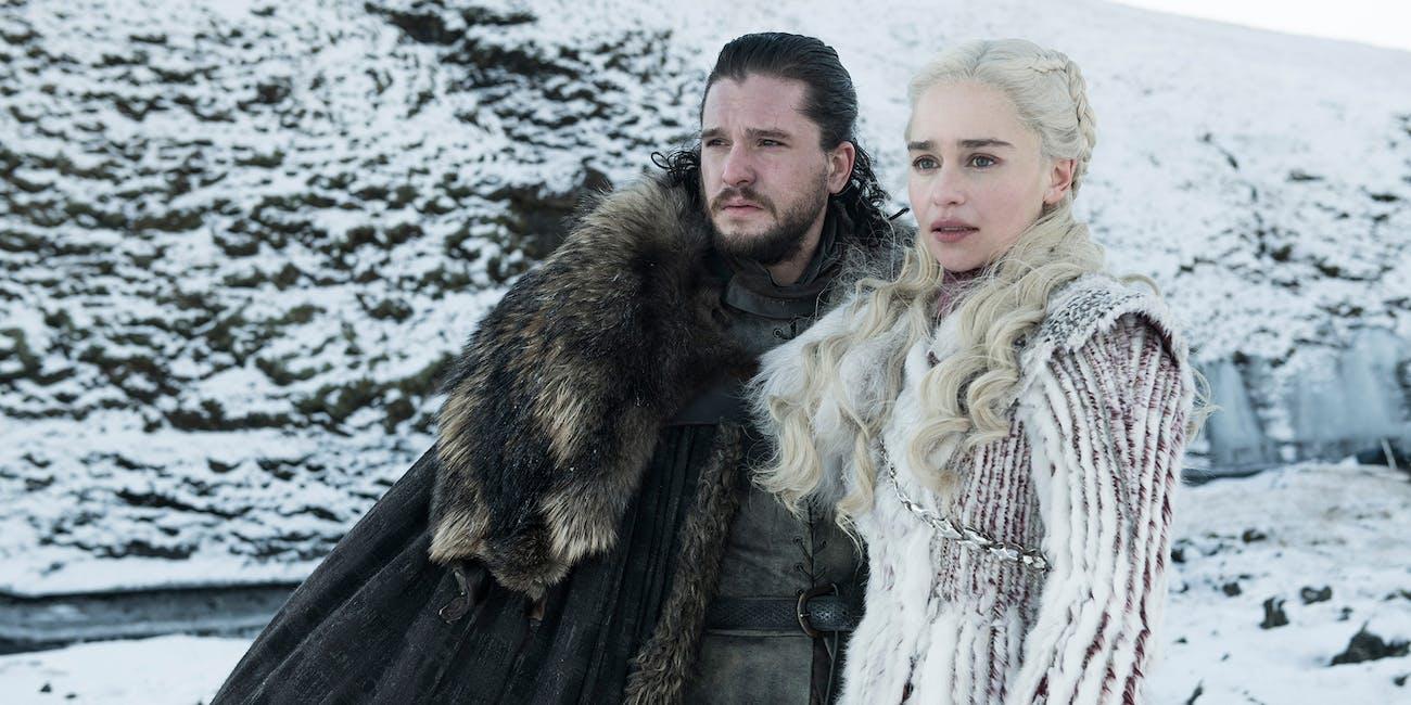 hbo game of thrones season 8 jon snow kit harington daenerys targaryen emilia clarke