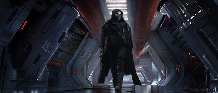Kylo Ren concept art star wars